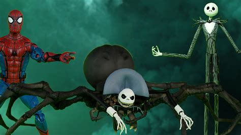 SPIDER-MAN and THE NIGHTMARE BEFORE CHRISTMAS Merge to