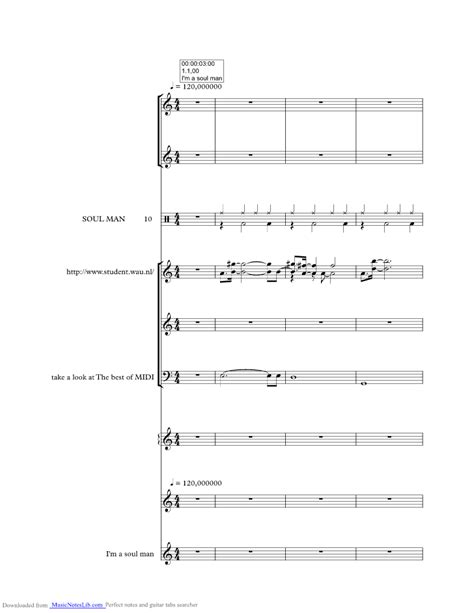 Im A Soul Man music sheet and notes by Blues Brothers