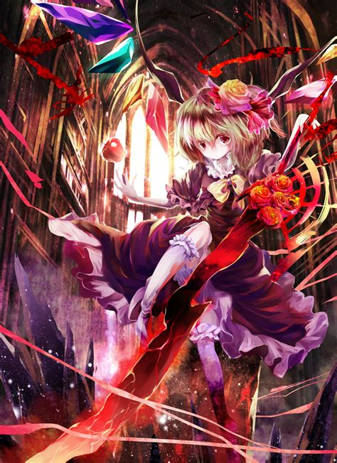 Flandre with her apple and roses